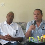 Director of the Education Trust Fund, David Phillip (left) and Manager of the Triple Kay Band, Emile DePooter